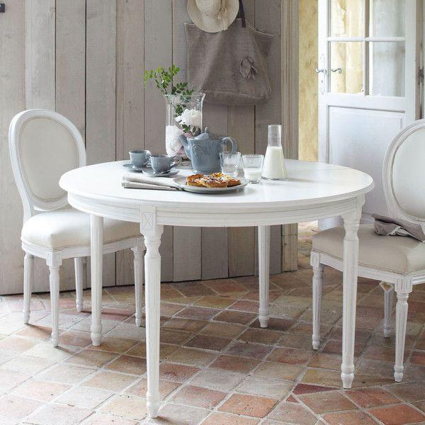 chaise m daillon en coton ivoire et bois blanc chaise medaillon m daillons et chaises. Black Bedroom Furniture Sets. Home Design Ideas