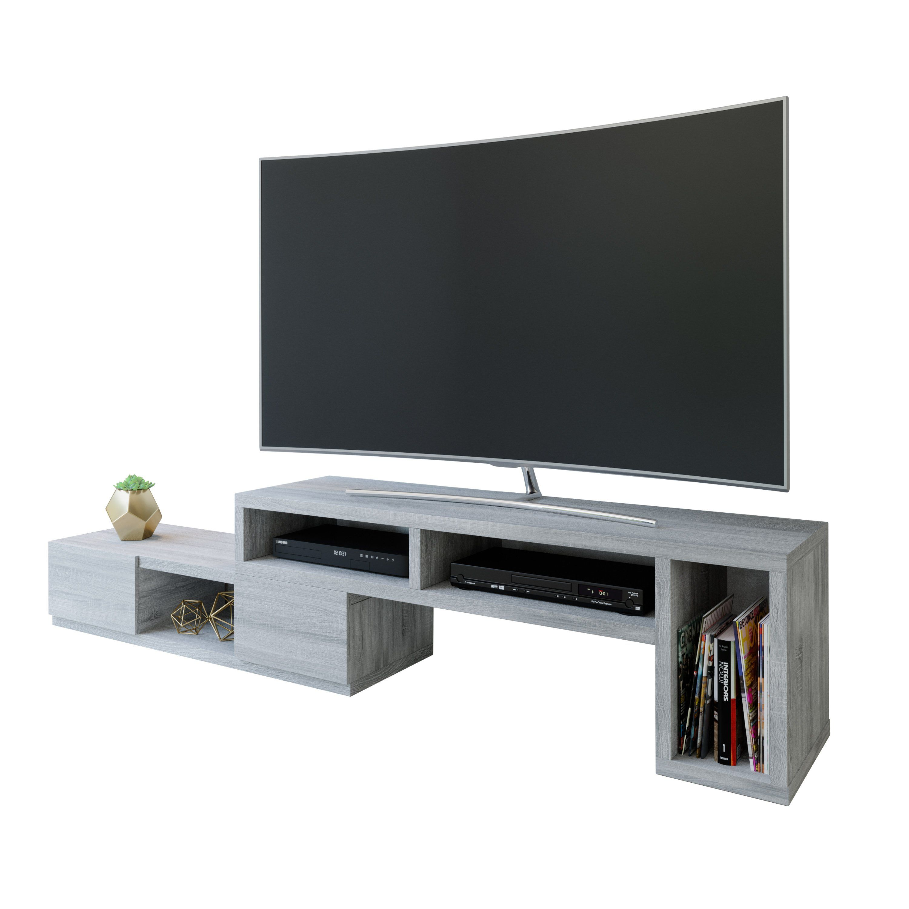 EXPANDABLE TV STAND CONSOLE FOR TV'S UP TO 65