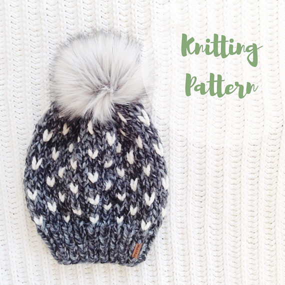 KNITTING PATTERN / / The Minnehaha Hat / / Fair Isle Knitting, Adult ...