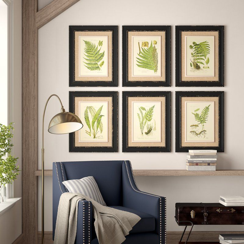 Birch Lane Heritage Frond 6 Piece Framed Graphic Art Print Set Reviews Birch Lane Traditional Wall Art Print Sets Art Print Set