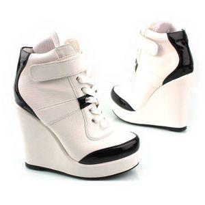 ADIDAS Women's Streetball Platform Wedge Open heel Shoes