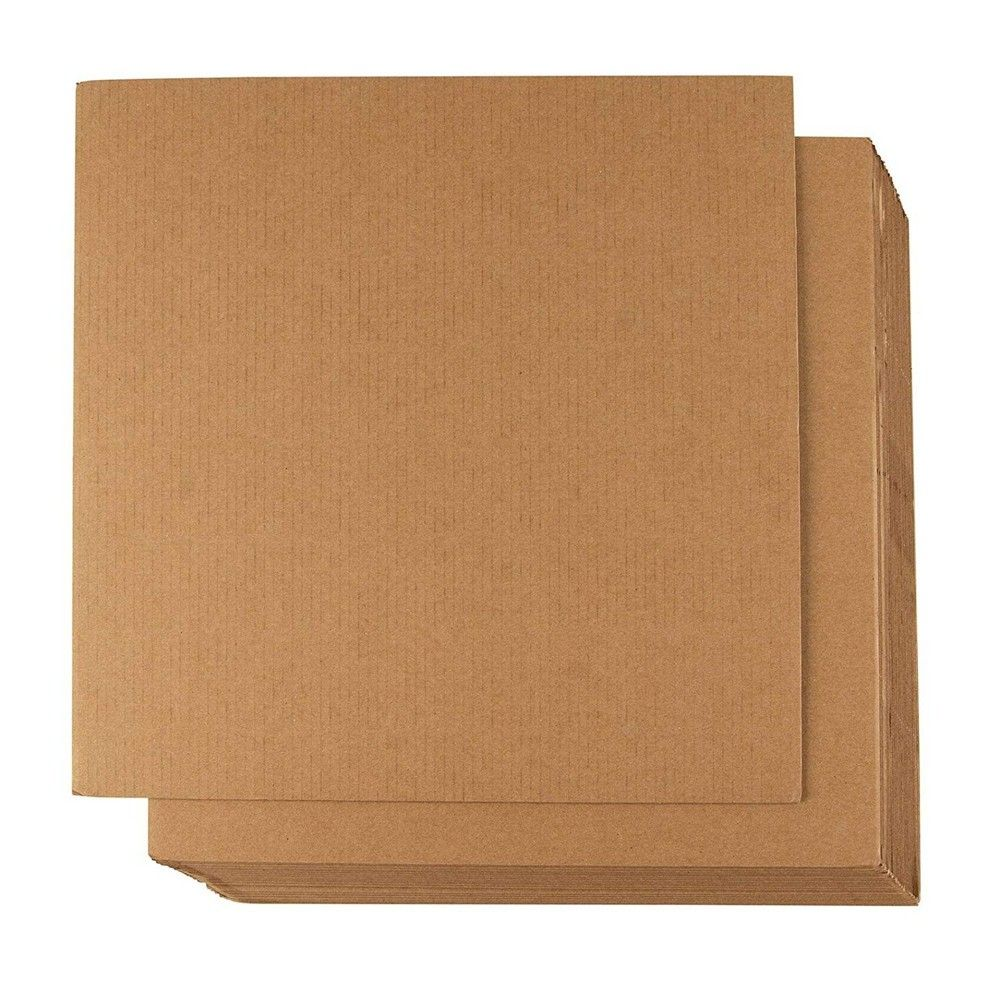 Corrugated Cardboard Sheets 24 Pack Flat Cardboard Sheets Cardboard Inserts For Packing Mailing Crafts Kraft Brown 12 X 12 Inches In 2021 Corrugated Cardboard Cardboard Crafts Cardboard