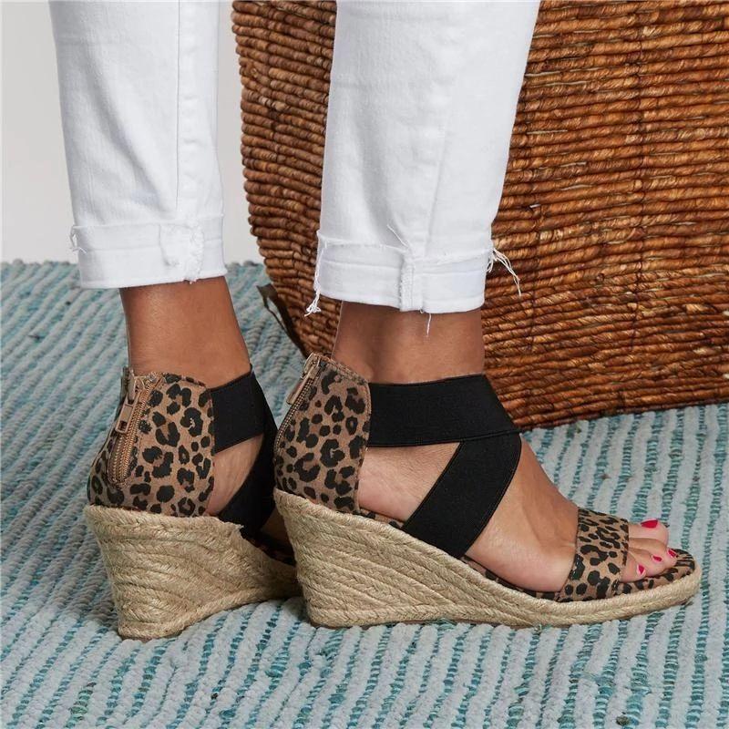 Summer Round Toe High Heel Wedge Casual
