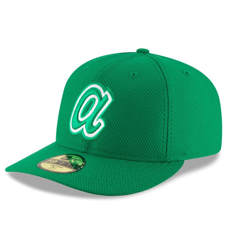 Atlanta Braves New Era St. Patrick's Day Diamond Era Low Profile 59FIFTY Fitted Hat - Green