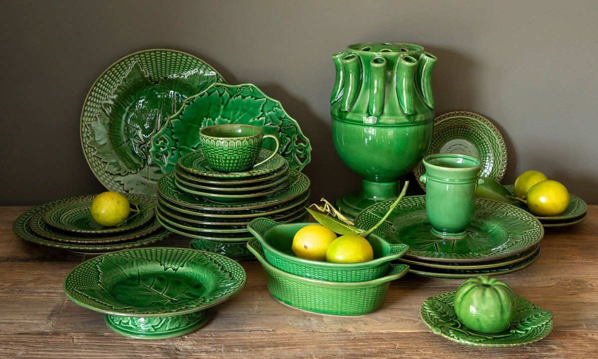 Photo of Lovecup 17th Century Reproduction Green Glazed Ceramic Tulip Vase L651