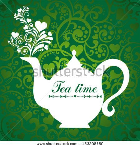Image Subscriptions House vector, Cafe bar and Tea time - time card