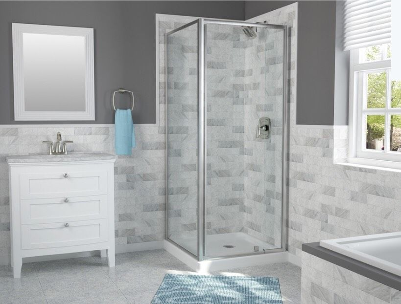 Pin By Danielle Lapierre On Mountain House Chrome Shower Door