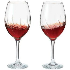 No time to decant your reds before serving? Use these Aerating Wine Glasses - the internal ridges help to enhances flavour and reduces alcohol as you swirl your vino.