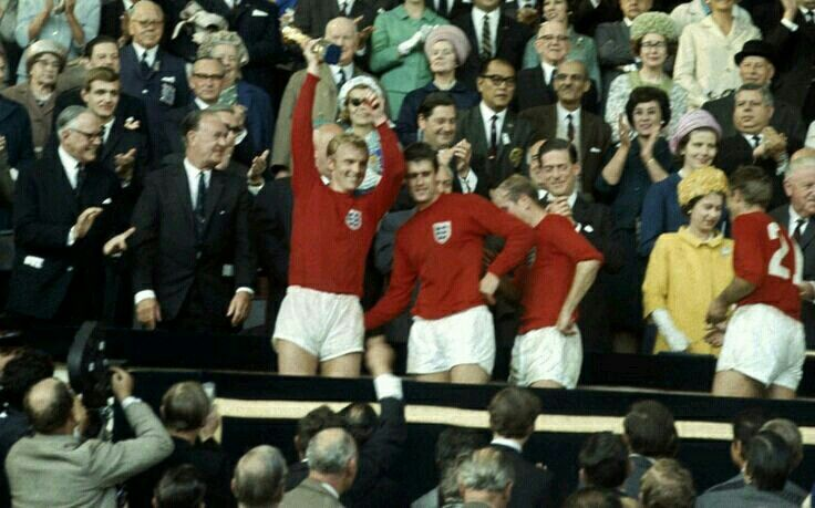 Bobby Moore Lifts The World Cup At Wembley In 1966