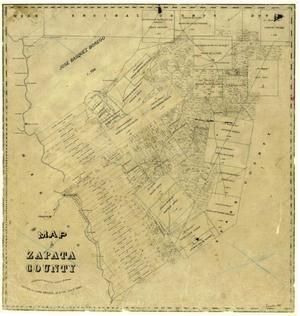 Map Of Zapata Texas.A Map Of Zapata County From The Middle 1800s Zapata County