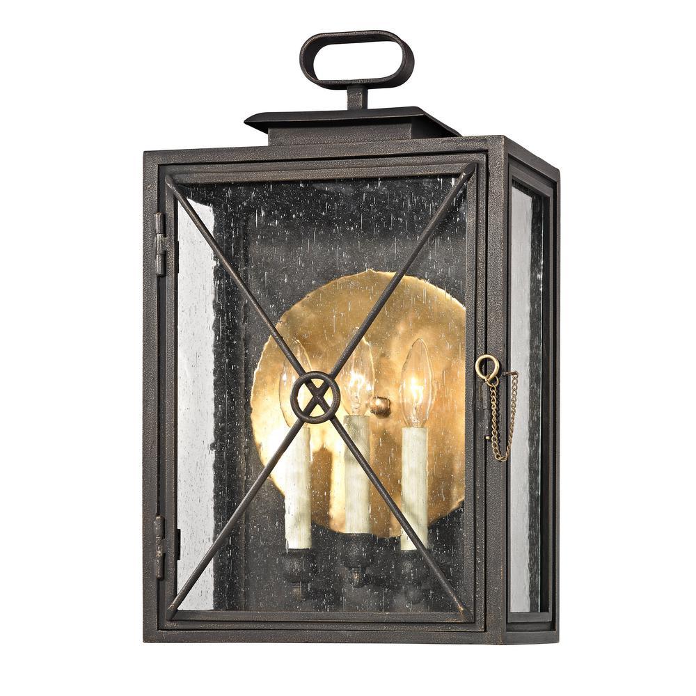 Troy lighting randolph light vintage bronze in h outdoor wall