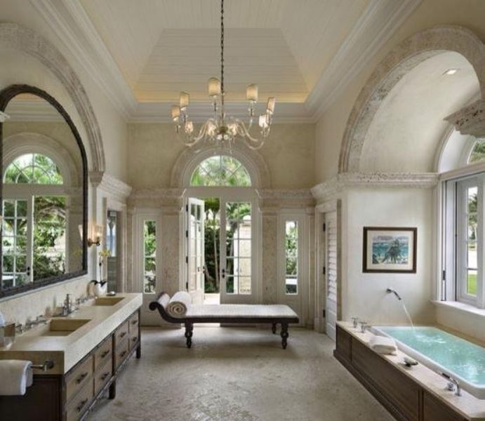Photo of 80 Master Bathrooms with Chandelier Lighting (Photos)