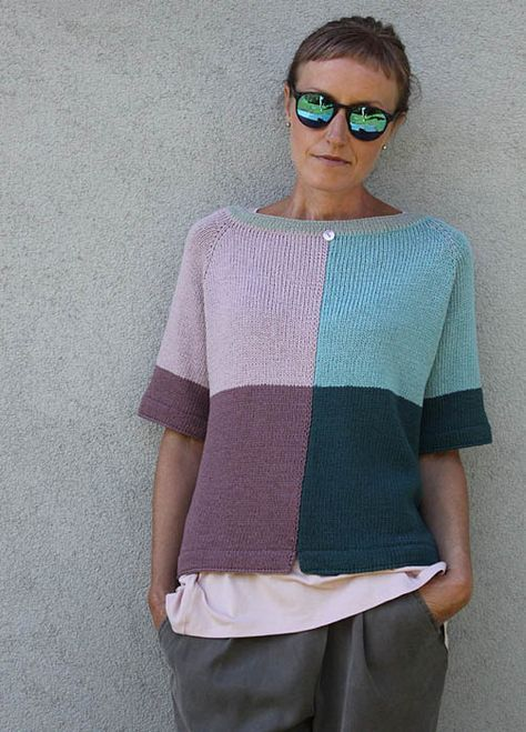 Summer top knitted with large needles | Ideas para el hogar ...