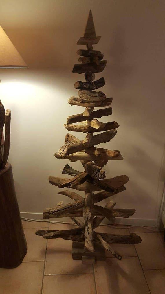 Sapin de noël en bois flotté démontable d une taille de 159cm fait ...