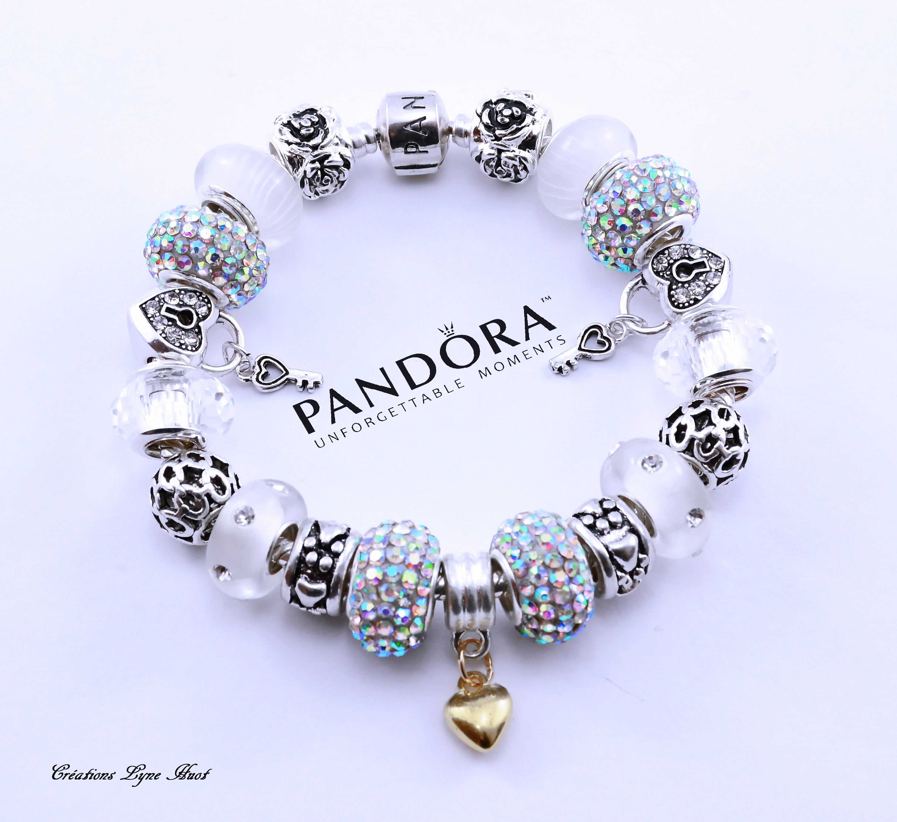Sterling silver PANDORA Bracelet with all the beads -OR-select a ...