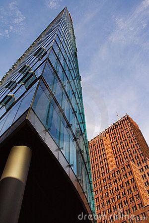 Modern office skyscraper buildings in Potsdamer Platz, Berlin
