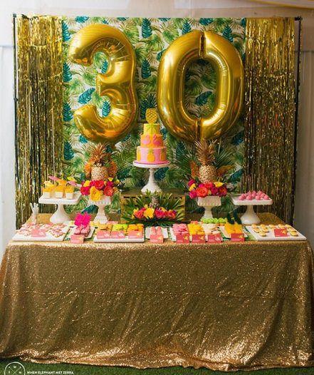 Ideas para celebrar una fiesta de 30 cumplea os en casa for Decoracion 30 cumpleanos