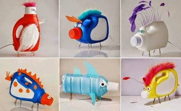 Best out of waste ideas from plastic bottles for kids cute for Creative products from waste materials