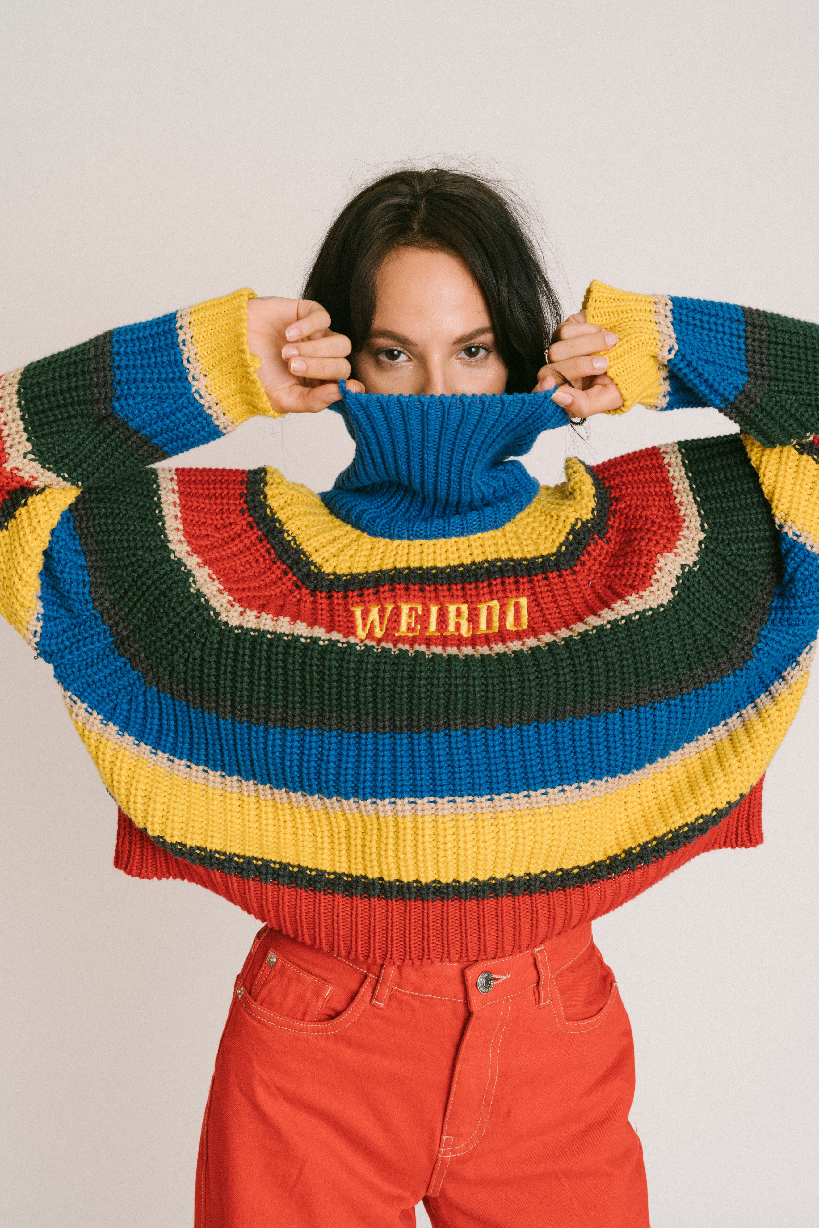 Weirdo Knitted Striped Jumper Aesthetic Clothes Retro Outfits 90s Fashion Outfits