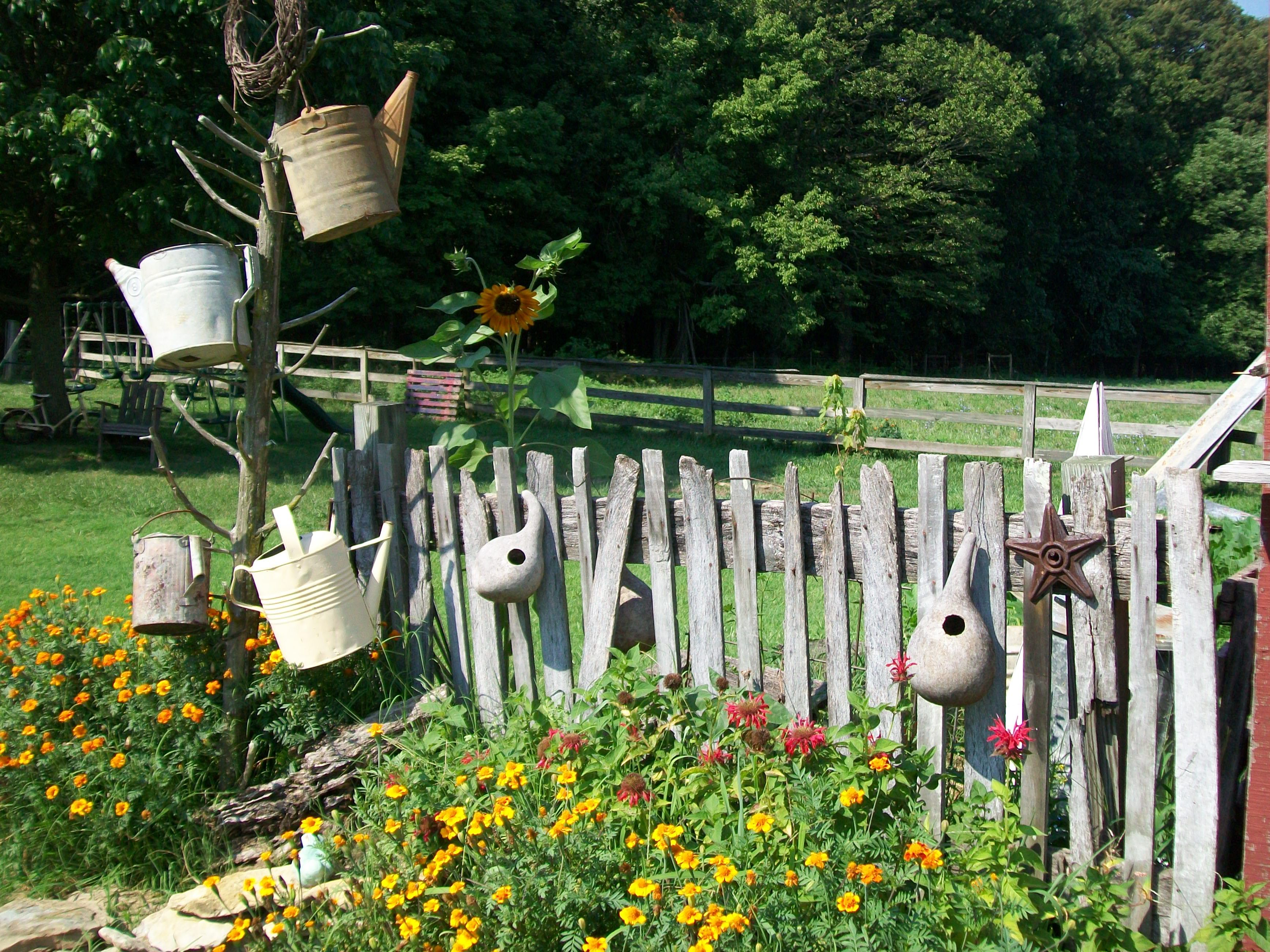 Yard Art From Old Garden Tools