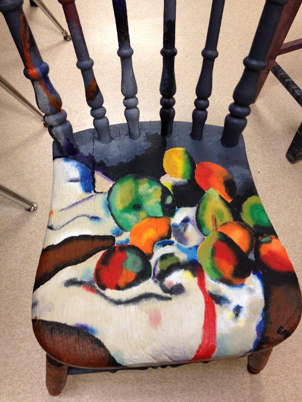 Art The Heart Grade 11 Artist Chairs Avi3m 3o Art Chair Artist Chair School Art Projects