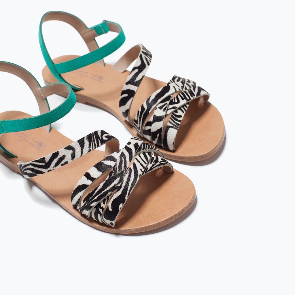 ZARA - ENFANTS - SANDALES CUIR IMPRIMÉ ANIMAL   Zapatos ...