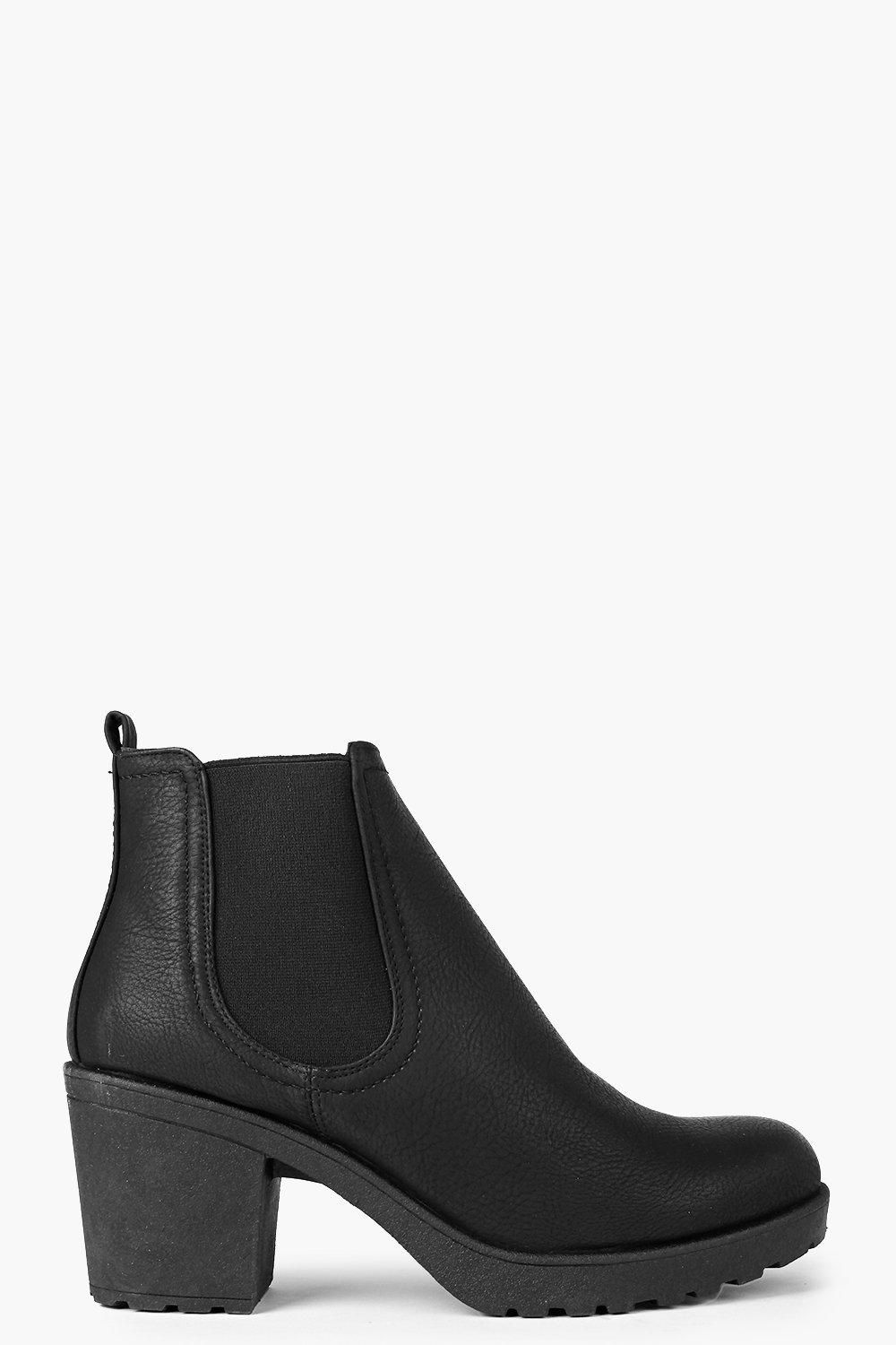 cb2717c381d Chunky Cleated Heel Chelsea Boots | Shoes | Chelsea boots, Boots, Shoes
