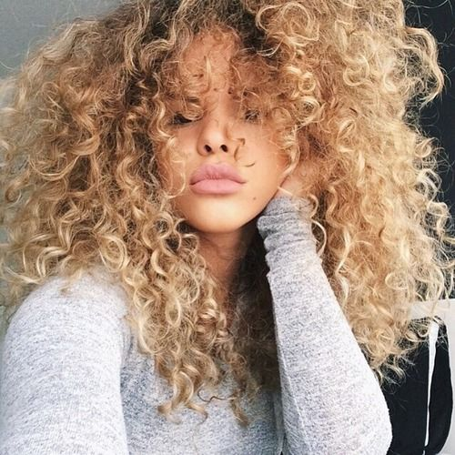 black girls curly blonde hair | Tumblr Pinterest // carriefiter ...