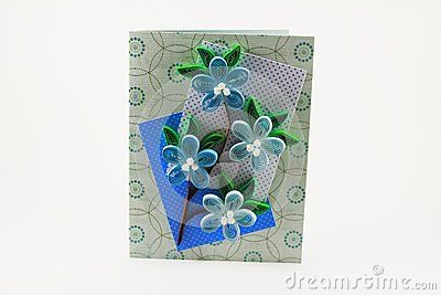 Card with quilling flowers
