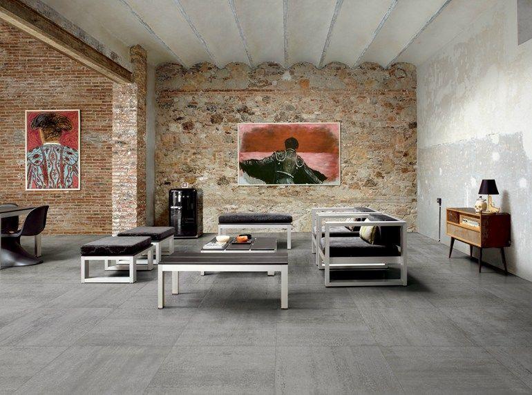 Pavimento/rivestimento in gres porcellanato LINK SLATE GREY by CERAMICHE KEOPE