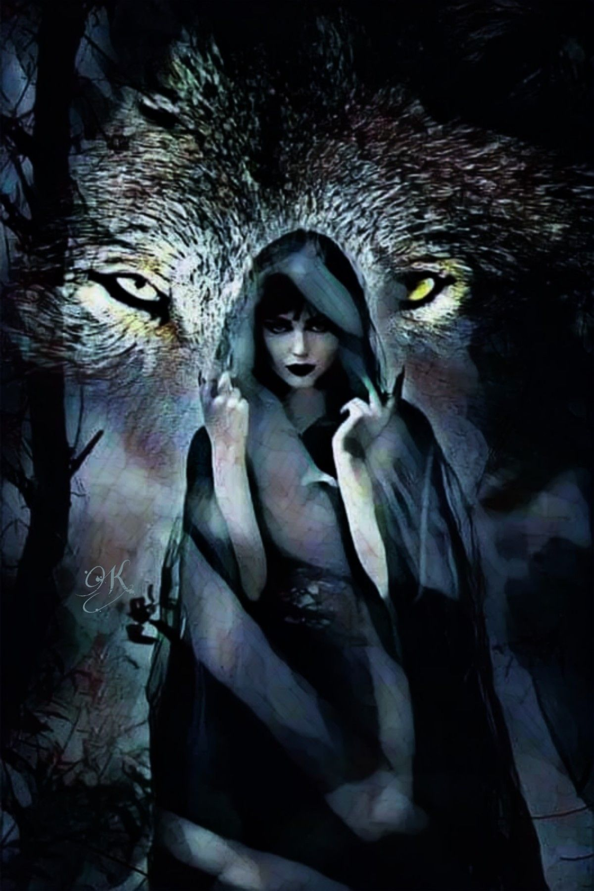 Pin by Phil Hill on Werewolves | Wolf art, Magical wolf, Wolf pictures