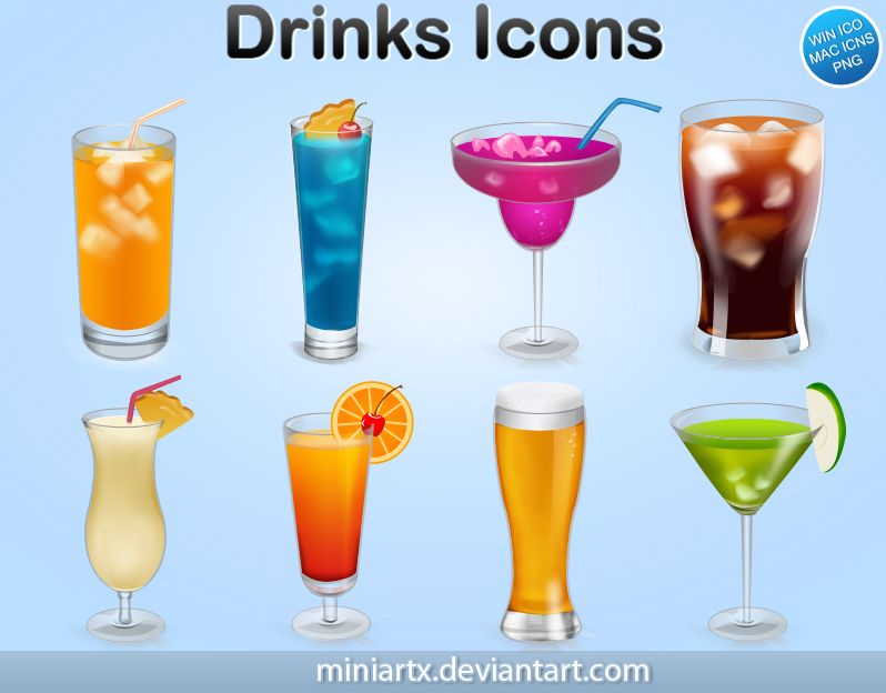 ICON Drinks by ~Miniartx on deviantART~TO DOWNLOAD