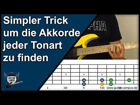 Simpler Trick um die richtigen Akkorde der jeweiligen Tonart zu finden ► Gitarre lernen