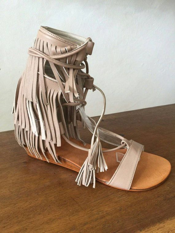 Hey, I found this really awesome Etsy listing at https://www.etsy.com/listing/266900723/leather-fringe-sandal-with-tassel-trim