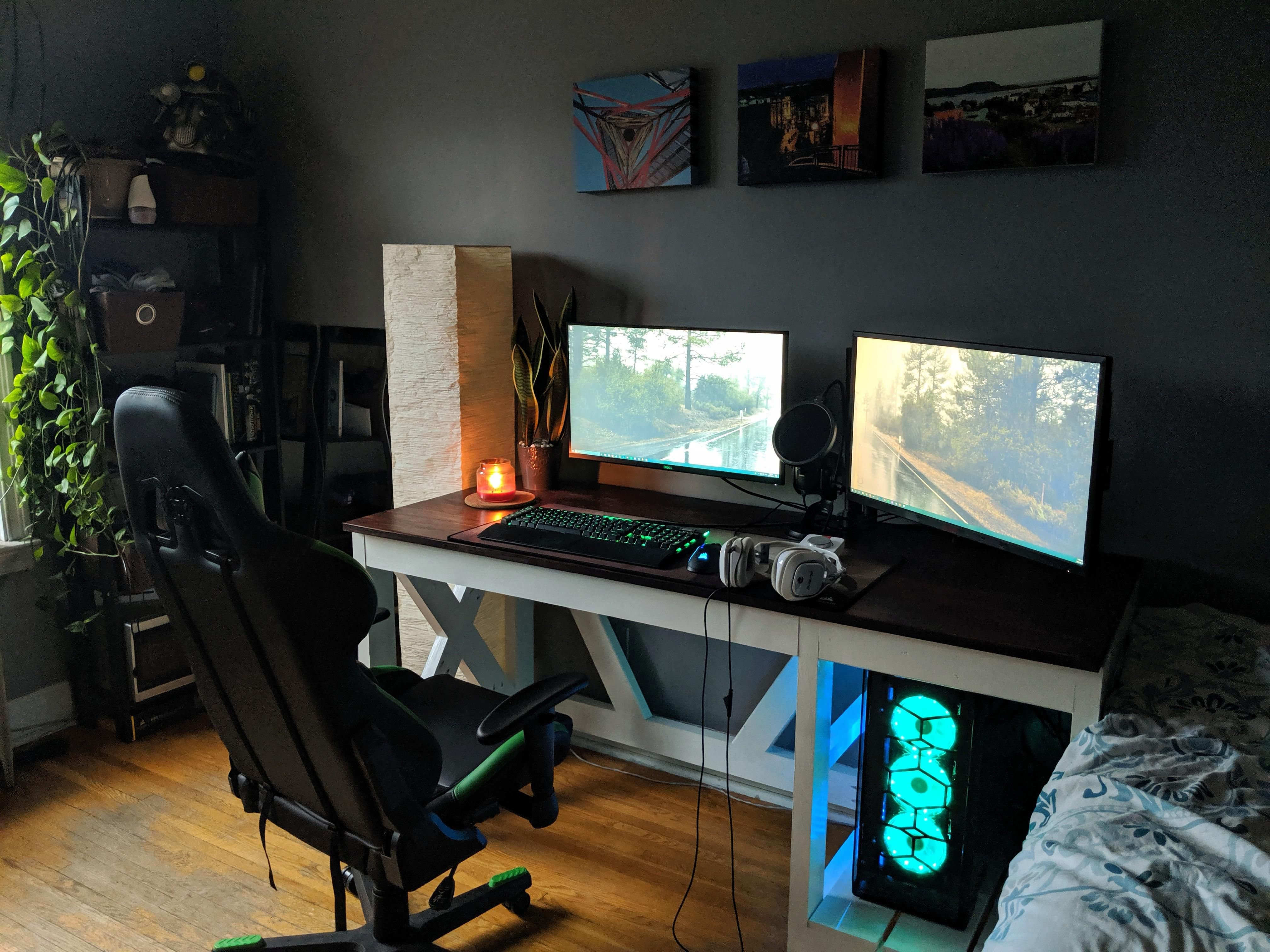 My Cozy Hiding Place For The End Of The Day Check Out Desigedecors Com To Get More Inspiration Interi Best Computer Chairs Home Office Setup Gaming Desk Chair