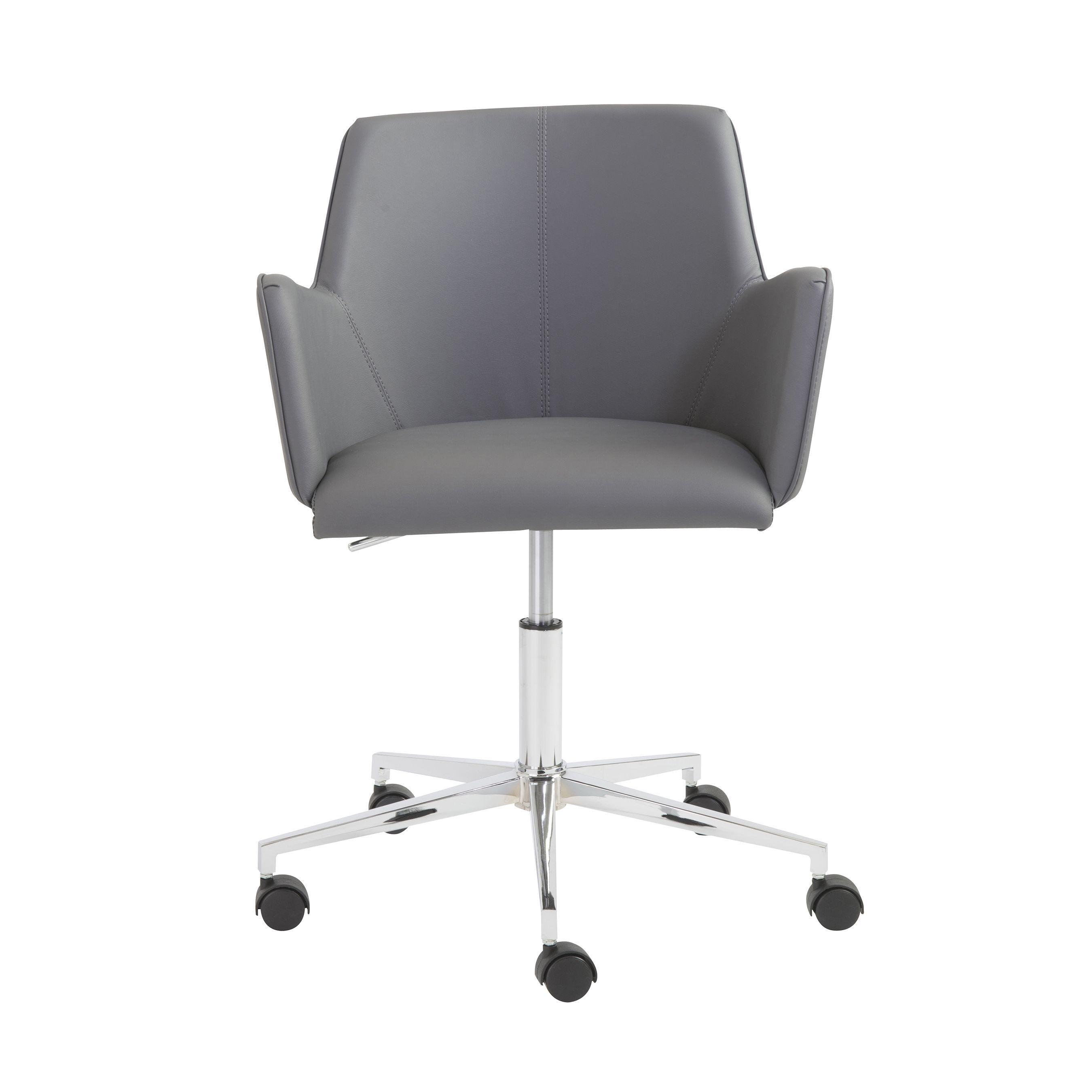 Euro Style Chrome Sunny Office Chair