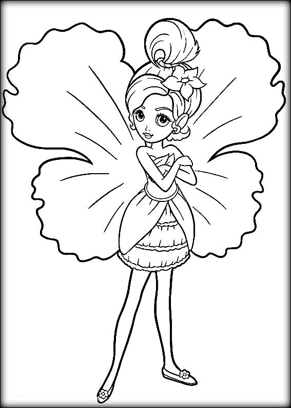 Disney Barbie Mariposa Coloring Pages