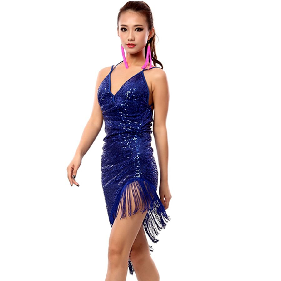 7d95642821f1 2017 Sexy Latin Dance Dress Women Girls Polyester Salsa Samba Tango  Ballroom Competition Costume Lady Practise Competition Dance