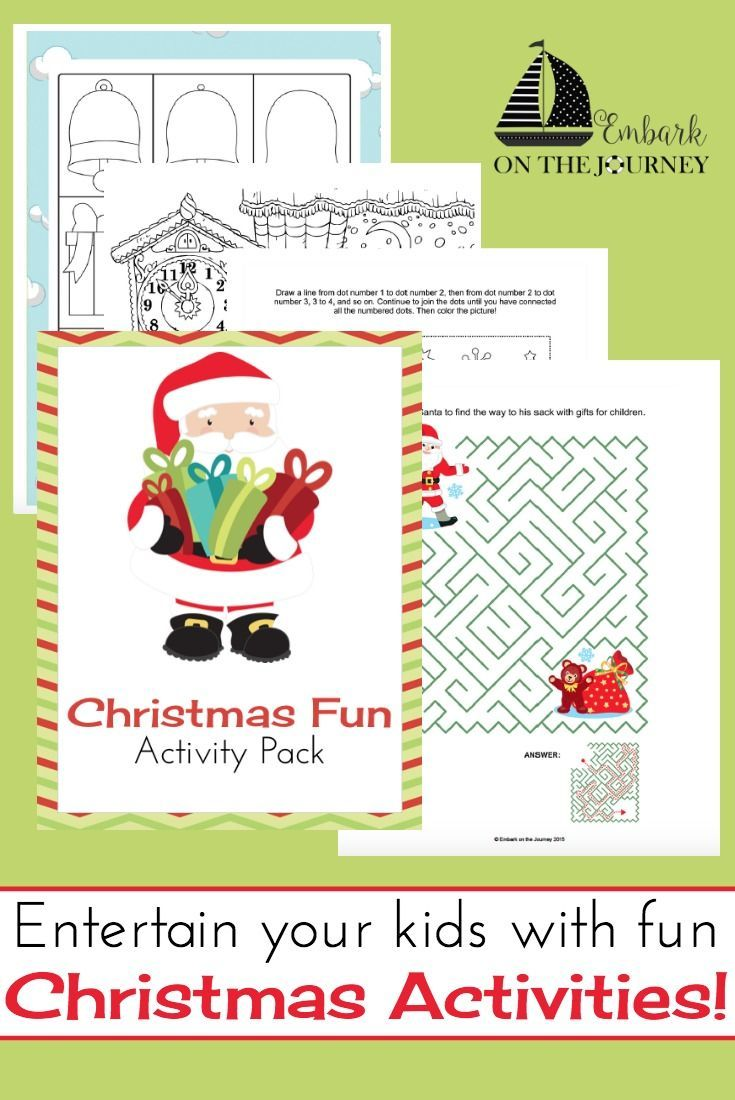 Christmas Activity Pack for Kids of All Ages | Christmas & Winter ...