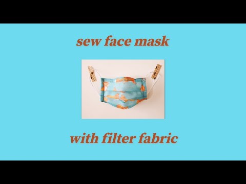 Diy How To Sew Face Mask No Sewing Machine Youtube In 2020