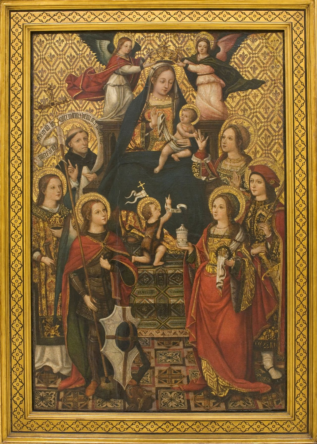 Arte Renacentista Del Siglo Xvi Vicente Masip 1475 1545 Virgin And Child With Saints And