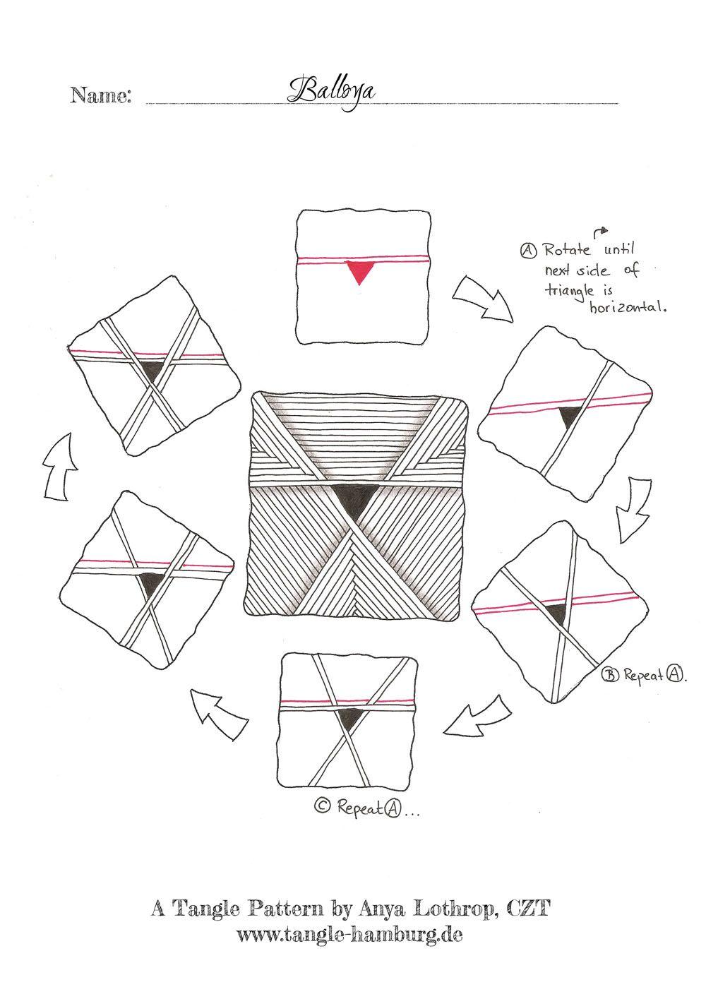 Balloya A New Tangle Pattern Ein Neues Tangle Muster