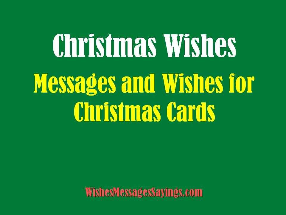 Picture Christmas Cards Pinterest Christmas cards, Cards and - christmas wishes samples