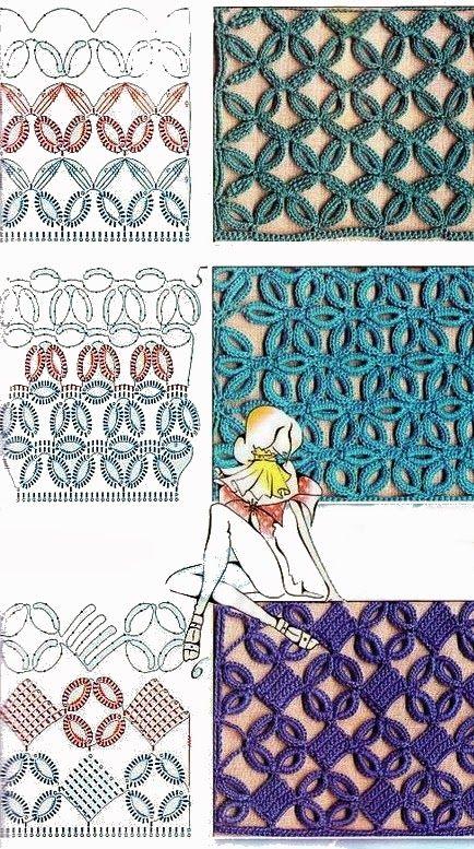 Uncinetto E Crochet Punti Traforati Uncinetto Punti Ganchillo
