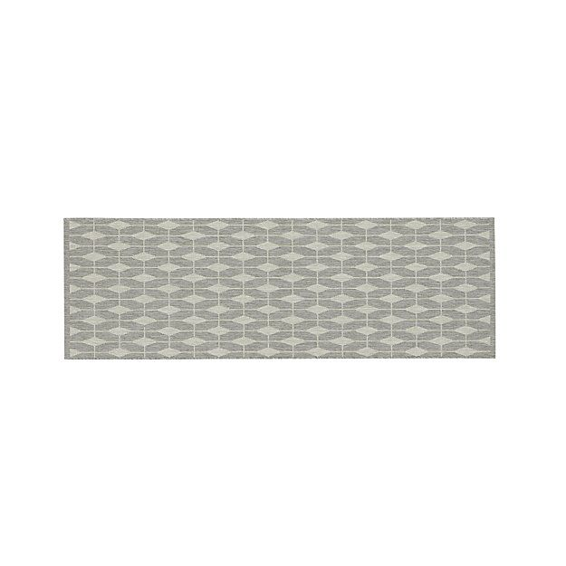 Aldo Dove Grey Indoor Outdoor 2 5 X8 Rug Runner Kitchen