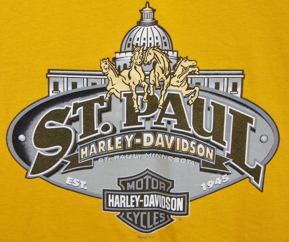 st paul harley davidson minnesota t-shirt mens xxl 2xl ss capitol