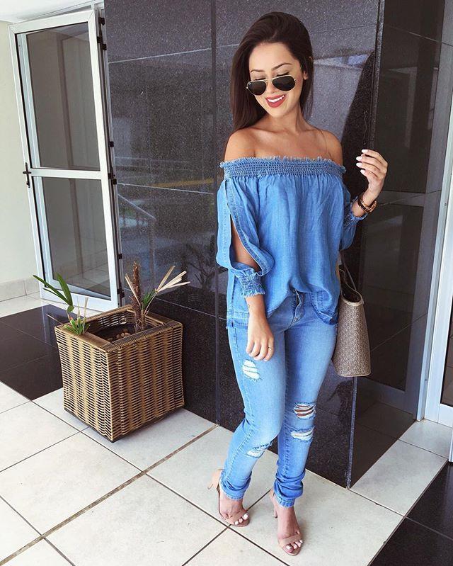 b52d97591a Look total jeans da  chancejeansbr 💙