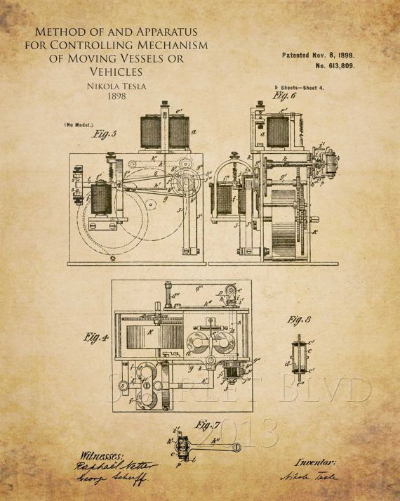 Image result for nikola tesla invention schematics | Patents ... on