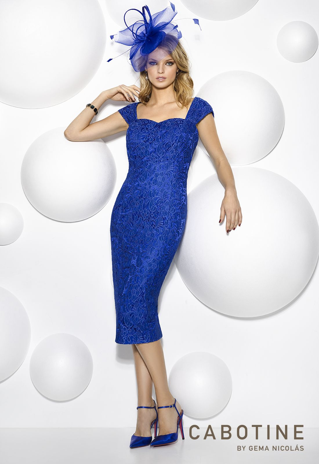 A beautiful in blue dress by cabotine perfect for a mother of the