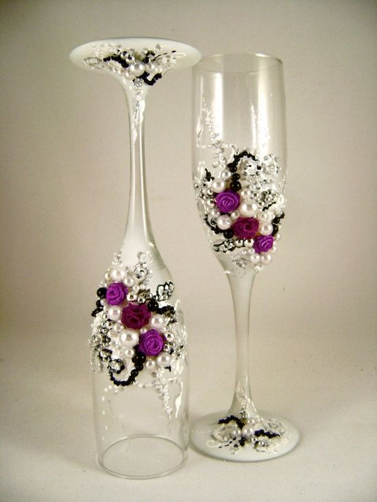 emily glass ware wedding champagne wine